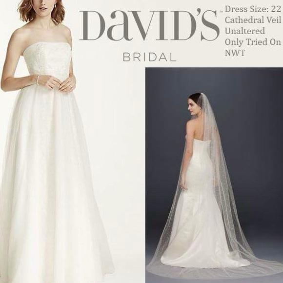David\'s Bridal Dresses | Romantic Ethereal Wedding Dress Veil | Poshmark